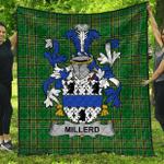 1stScotland Premium Quilt - Millerd Irish Family Crest Quilt - Irish National Tartan A7