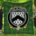 1stScotland Premium Quilt - House Of French Irish Family Crest Quilt - Irish National Tartan A7