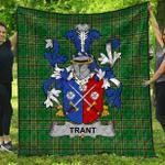 1stScotland Premium Quilt - Trant Or Trent Irish Family Crest Quilt - Irish National Tartan A7