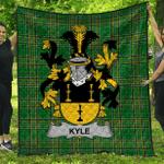 1stScotland Premium Quilt - Kyle Irish Family Crest Quilt - Irish National Tartan A7
