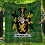 1stScotland Premium Quilt - Bramhall Irish Family Crest Quilt - Irish National Tartan A7