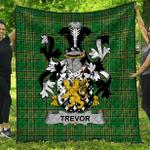 1stScotland Premium Quilt - Trevor Irish Family Crest Quilt - Irish National Tartan A7