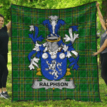 1stScotland Premium Quilt - Ralphson Irish Family Crest Quilt - Irish National Tartan A7