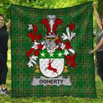 1stScotland Premium Quilt - Doherty Or O'Doherty Irish Family Crest Quilt - Irish National Tartan A7