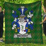 1stScotland Premium Quilt - Mackesy Irish Family Crest Quilt - Irish National Tartan A7