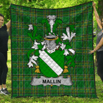 1stScotland Premium Quilt - Mallin Or O'Mallan Irish Family Crest Quilt - Irish National Tartan A7
