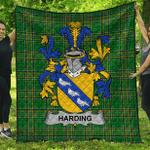 1stScotland Premium Quilt - Harding Irish Family Crest Quilt - Irish National Tartan A7