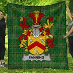 1stScotland Premium Quilt - Fanning Irish Family Crest Quilt - Irish National Tartan A7