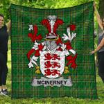 1stScotland Premium Quilt - Mcinerney Irish Family Crest Quilt - Irish National Tartan A7