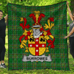 1stScotland Premium Quilt - Burrowes Irish Family Crest Quilt - Irish National Tartan A7