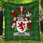 1stScotland Premium Quilt - Dease Irish Family Crest Quilt - Irish National Tartan A7