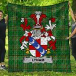1stScotland Premium Quilt - Lynam Or O'Lynam Irish Family Crest Quilt - Irish National Tartan A7