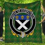 1stScotland Premium Quilt - House Of Fitzpatrick Irish Family Crest Quilt - Irish National Tartan A7