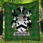 1stScotland Premium Quilt - Warburton Irish Family Crest Quilt - Irish National Tartan A7