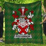 1stScotland Premium Quilt - Fitz-Gibbon Irish Family Crest Quilt - Irish National Tartan A7