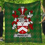1stScotland Premium Quilt - Wakeley Irish Family Crest Quilt - Irish National Tartan A7