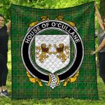 1stScotland Premium Quilt - House Of O'Cullane (Or Collins) Irish Family Crest Quilt - Irish National Tartan A7