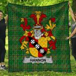 1stScotland Premium Quilt - Hannon Or O'Hannon Irish Family Crest Quilt - Irish National Tartan A7