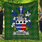 1stScotland Premium Quilt - Dodwell Irish Family Crest Quilt - Irish National Tartan A7