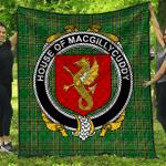 1stScotland Premium Quilt - House Of Macgillycuddy Irish Family Crest Quilt - Irish National Tartan A7