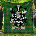 1stScotland Premium Quilt - Lambe Irish Family Crest Quilt - Irish National Tartan A7