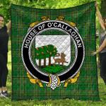 1stScotland Premium Quilt - House Of O'Callaghan Irish Family Crest Quilt - Irish National Tartan A7