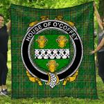 1stScotland Premium Quilt - House Of O'Coffey Irish Family Crest Quilt - Irish National Tartan A7