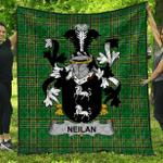 1stScotland Premium Quilt - Neilan Or O'Neylan Irish Family Crest Quilt - Irish National Tartan A7
