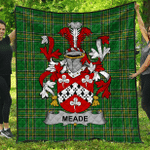 1stScotland Premium Quilt - Meade Irish Family Crest Quilt - Irish National Tartan A7