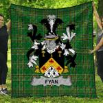 1stScotland Premium Quilt - Fyan Or Faghan Irish Family Crest Quilt - Irish National Tartan A7