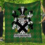 1stScotland Premium Quilt - Fitz-Maurice Irish Family Crest Quilt - Irish National Tartan A7