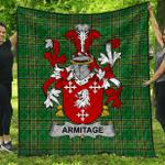 1stScotland Premium Quilt - Armitage Irish Family Crest Quilt - Irish National Tartan A7