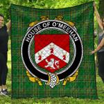 1stScotland Premium Quilt - House Of O'Meehan Irish Family Crest Quilt - Irish National Tartan A7