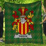 1stScotland Premium Quilt - Theede Irish Family Crest Quilt - Irish National Tartan A7