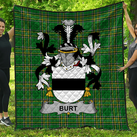 1stScotland Premium Quilt - Burt Or Birt Irish Family Crest Quilt - Irish National Tartan A7