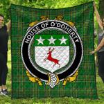 1stScotland Premium Quilt - House Of O'Doherty Irish Family Crest Quilt - Irish National Tartan A7