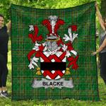 1stScotland Premium Quilt - Blacke Irish Family Crest Quilt - Irish National Tartan A7