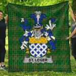 1stScotland Premium Quilt - St.Leger Irish Family Crest Quilt - Irish National Tartan A7