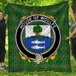 1stScotland Premium Quilt - House Of Woulfe Irish Family Crest Quilt - Irish National Tartan A7