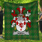 1stScotland Premium Quilt - Sheill Or O'Sheil Irish Family Crest Quilt - Irish National Tartan A7
