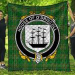 1stScotland Premium Quilt - House Of O'Driscoll Irish Family Crest Quilt - Irish National Tartan A7