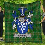 1stScotland Premium Quilt - Topping Irish Family Crest Quilt - Irish National Tartan A7