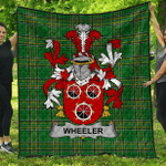 1stScotland Premium Quilt - Wheeler Irish Family Crest Quilt - Irish National Tartan A7