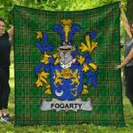 1stScotland Premium Quilt - Fogarty Or O'Fogarty Irish Family Crest Quilt - Irish National Tartan A7