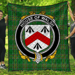 1stScotland Premium Quilt - House Of Walsh Irish Family Crest Quilt - Irish National Tartan A7