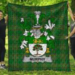 1stScotland Premium Quilt - Murphy (Wexford) Irish Family Crest Quilt - Irish National Tartan A7