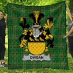 1stScotland Premium Quilt - Owgan Irish Family Crest Quilt - Irish National Tartan A7