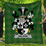 1stScotland Premium Quilt - Nelson Or Nealson Irish Family Crest Quilt - Irish National Tartan A7