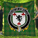 1stScotland Premium Quilt - House Of O'Molloy Irish Family Crest Quilt - Irish National Tartan A7