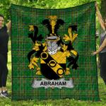 1stScotland Premium Quilt - Abraham Irish Family Crest Quilt - Irish National Tartan A7